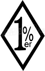 1 %er Percenter Biker Decal Sticker