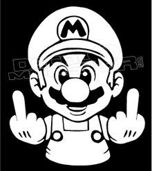 Fuck Off Mario Decal Sticker