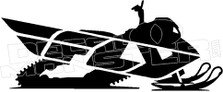 Fly Snowmobile Decal Sticker