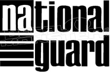 National Guard 1 Decal Sticker