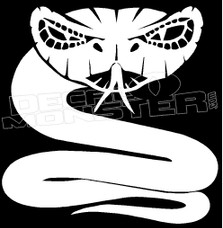 Rattle Snake Silhouette 4 Decal Sticker