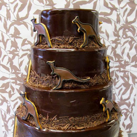 """Chocolate Ganache Kangaroo """"Cookie Cake"""""""