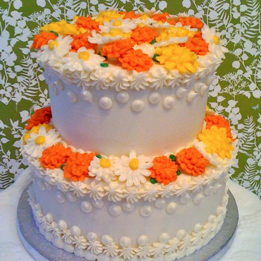 Buttercream Daisies and Marigolds