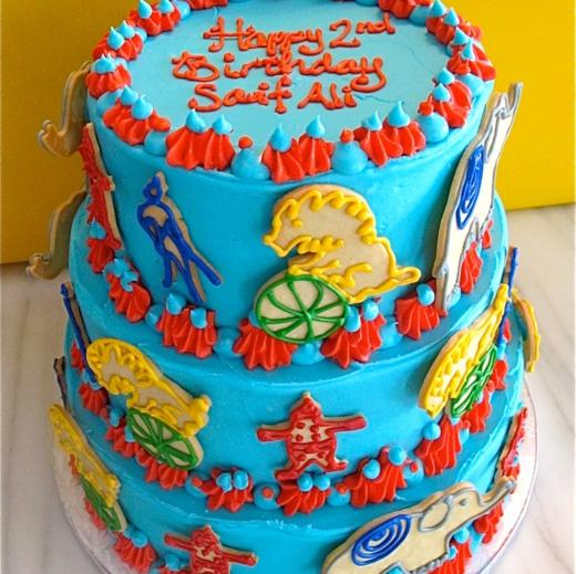 "Circus-Themed ""Animal Cracker"" Cake"