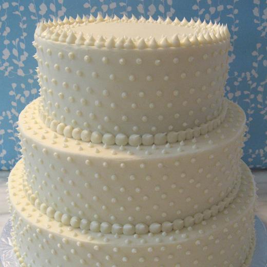 """Swiss Dot"" Cake"