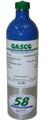 GASCO Calibration Gas 431R Mixture 50 PPM Carbon Monoxide, 25 PPM Hydrogen Sulfide, 0.165% Hexane (15% LEL) , 12% Oxygen, Balance Nitrogen in 58 Liter ecosmart Cylinder C-10 Connection