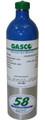 Acetylene Calibration Gas 1% Balance Nitrogen in a 58 ecosmart Refillable Aluminum Cylinder