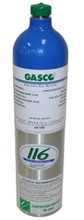 GASCO 304 Mix, Carbon Monoxide 100 PPM, Methane 50%, Balance Air in 116 Liter ecosmart Cylinder