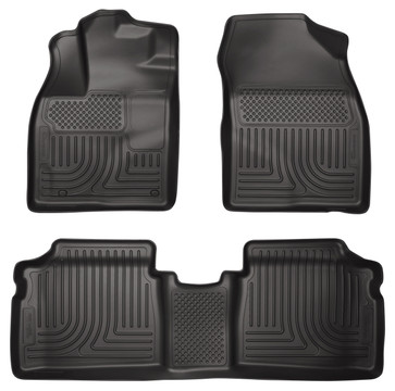 Husky Liner Prius Plug-in Front and 2nd Row Floorliner in Black
