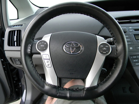 Genuine Leather Steering Wheel Cover For 2004 2009 Toyota