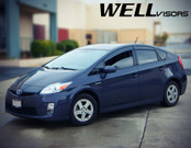 WellVisors Side Window Deflectors Toyota Prius 10-15 With Black Trim