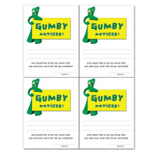 """Gumby Noticed"" Notes"