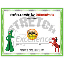 "Gumby Certificate ""Excellence in Character"" 2018-2019"