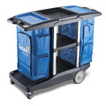 Oates Dual Handle Platinum Housekeeping Cart.