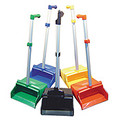 Black, Red, Blue, Green and Yellow.  Clip on handle to hold broom upright.