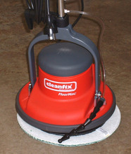 Orbital Head - Shown with microfibre pad. Spray nozzle at front connects to bottle on handle.