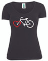 Over The Bars T-Shirt - Bike with Heart (Ladies)
