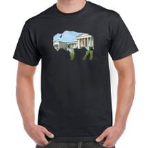 Buffalo,In Buffalo,Buffalove,Albright Knox,Art Gallery,Mens T-Shirt,Black T-Shirt,Buffalo Treasures