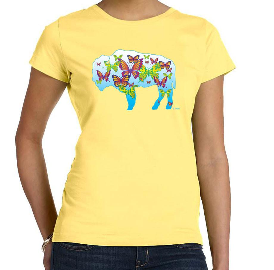 Butterflies in buffalo buffalo treasures for Custom t shirts buffalo ny