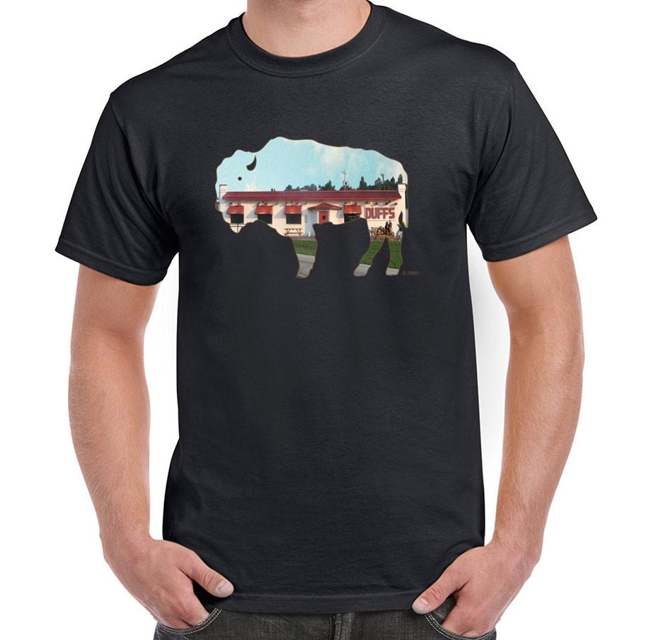 Duffs in buffalo buffalo treasures for Custom t shirts buffalo ny