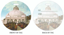 Botanical Gardens, Buffalo and Eire County Botanical Gardens, Luggage tag, ID Tag, Buffalo Luggage Tag, Buffalo ID tag, Buffalo, Buffalo NY