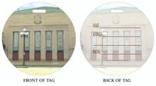 The Aid, Buffalo Memorial Auditorium, Luggage tag, ID Tag, Buffalo Luggage Tag, Buffalo ID tag, Buffalo, Buffalo NY