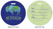 Think Globally, Think Global, Buffalo thinking globally, Global in Buffalo, Luggage tag, ID Tag, Buffalo Luggage Tag, Buffalo ID tag, Buffalo, Buffalo NY