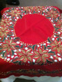 Hand Beaded Table topper Red