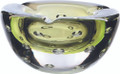 Bubble Ashtray.  A Beautiful Hand made designer style ashtray, luxurious shade of Lime Green. Height 90mm Depth 180mm