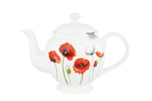 Ashdene Teapot With Metal Infuser - Poppies Memorial Collection.