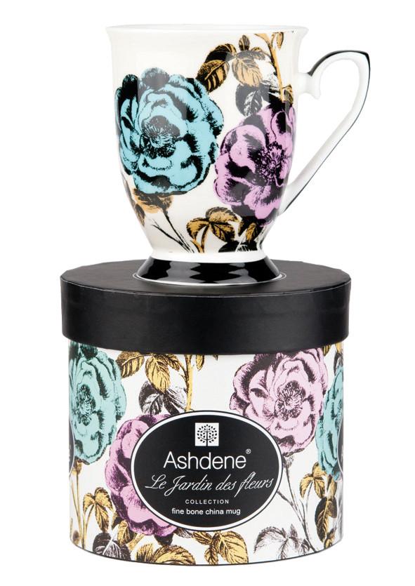 Ashdene fe le jarden fleur mug roses aura gift box for Jarden france