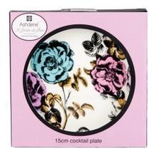 Ashdene Fe Le Jarden Fleur  Cocktail Plate  Roses