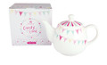 Teapot with Metal Infuser 650 M L  Plus Complimentary Box of Tea