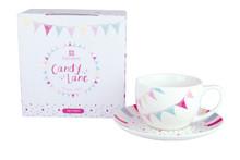 Candy Lane Tea Cup & Saucer   Capacity 250 ml