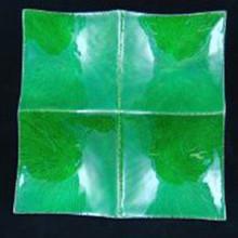 Martinvale Four Square Green Plate
