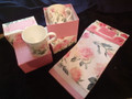 2 x Snack Tray Enchanted pink,  1 x Enchanted Pink Tea Towel,  2 x Mugs Enchanted pink