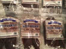 If you like a little sweet and a little heat this jerky is will be just right for you! Ingredients Beef, Chipotle Peppers, Tomato Puree, Brown Sugar, Onions, Vinegar, Fresh Lime Juice, Canola Oil, Salt, Garlic, Paprika. Natural Hickory Wood Smoke.