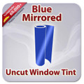 Uncut Colored Window Tint Film - Blue Mirrored