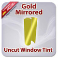 Uncut Colored Window Tint Film - Gold Mirrored