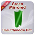Uncut Colored Window Tint Film - Green Mirrored