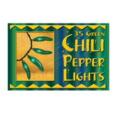 Green Chili Pepper Hanging Light String - 10235PL1G