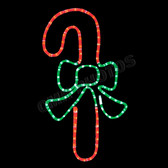 CANDY CANE WITH GREEN BOW - 100MO066