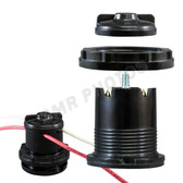 E26 / E27 Medium Base Socket w/Threaded Collar