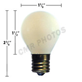40 WATT, 130 VOLT S11 INTERMEDIATE BASE INSIDE FROST - Pack(25bulbs)