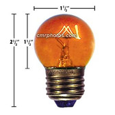 10WT G12 E27 BASE AMBER BULB - Pack/25