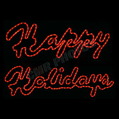 LED HAPPY HOLIDAYS WINDOW MOTIF (SOLD AS SET) - 100MOLHH