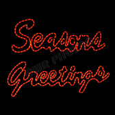 LED SEASONS GREETINGS WINDOW MOTIF(SOLD AS SET) - 100MOLSG