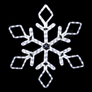 "22"" LED NON TWINKLE CLEAR SNOWFLAKE"