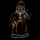 6FT GIANT MRS. CLAUS  YARD MOTIF SILHOUETTE DISPLAY - 100MO915