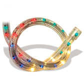 "5 Wire 5/8"" CROWN 3Bulb/Circuit Chasing Rope Light Red-Blue-Yellow-Green - 20643/RBYG"